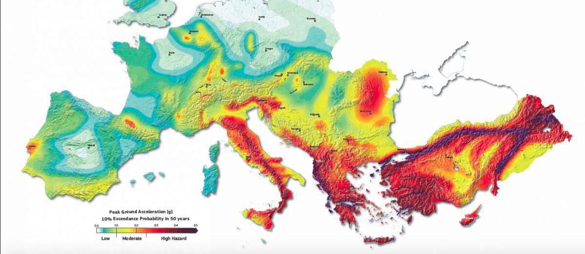 La Mappatura Del Rischio Sismico In Europa Balcani E Paesi Del