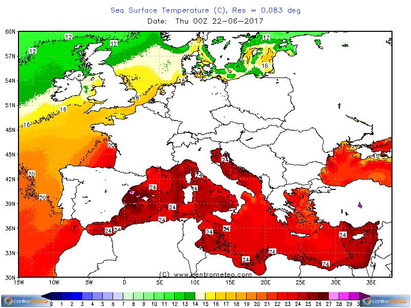 Il Mar Ligure è 5 gradi sopra la media a giugno... e svanisce la ...
